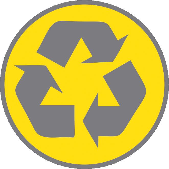 Recycle beursmaterialen